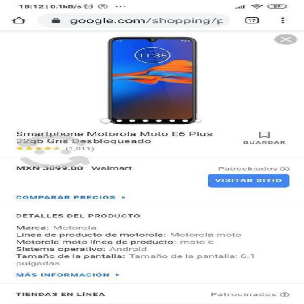 Motorola e6 plus nuevo