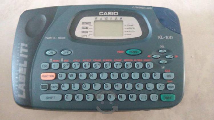 Rotulador label it casio kl 100 casi nueva