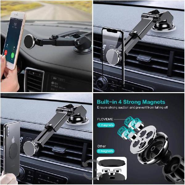 Soporte de celular de imán para el auto