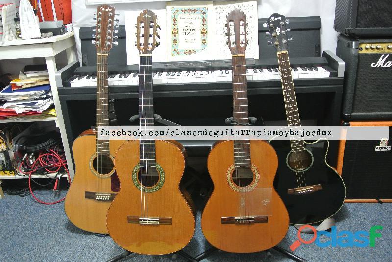 Clases de guitarra clasica y guitarra electrica particulares cdmx