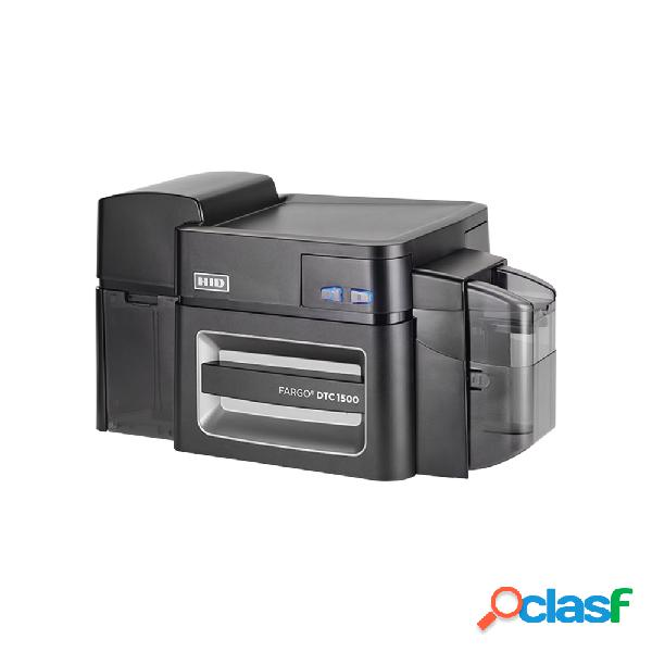 Hid dtc1500, impresora de credencial, sublimación, transferencia térmica, 300 x 300 dpi, usb, negro