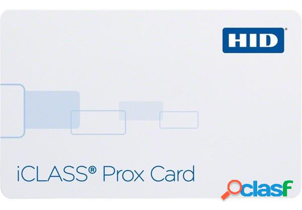 Hid tarjeta iclass prox, 8.5 x 5.4cm, blanco - precio por pieza se vende a partir de 100 piezas
