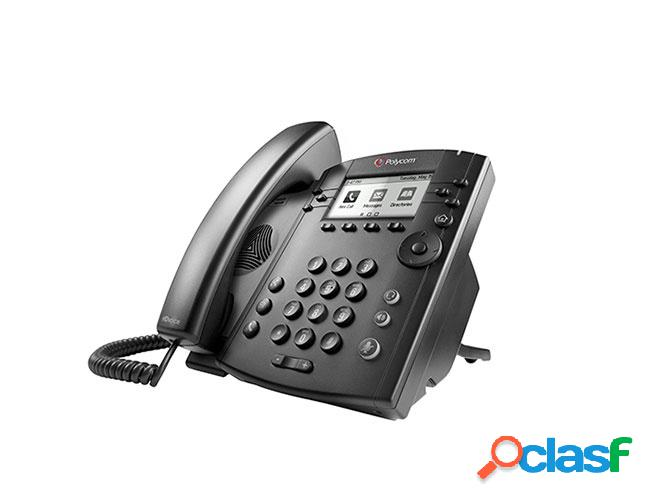 "Plycom teléfono ip con pantalla 3.2"" vvx 311, 6 líneas, 6 teclas programables, altavoz, negro"