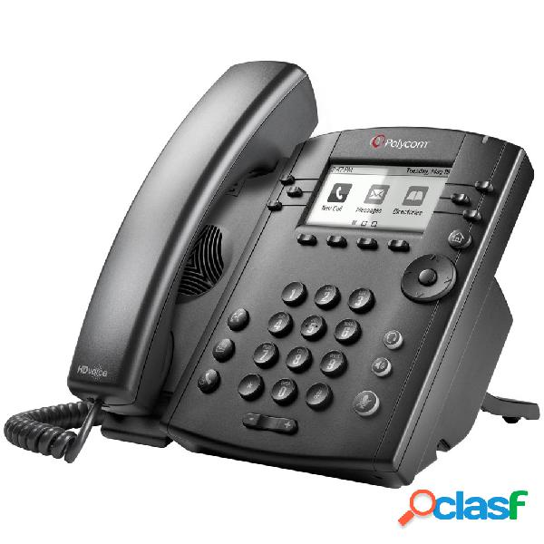 Poly teléfono ip con pantalla lcd vvx 311, 6 líneas, altavoz, negro