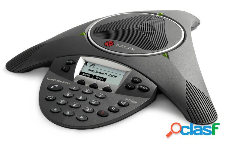 Poly telefono soundstation ip 6000, alámbrico, 1x rj-45