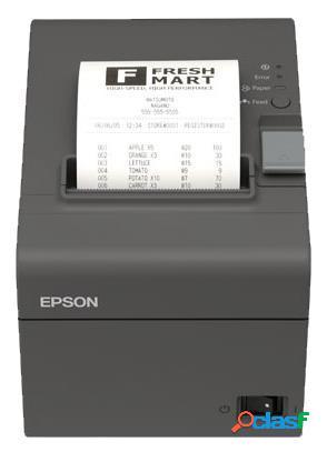 Epson tm-t20ii, impresora de tickets, térmico, alámbrico, ethernet, negro
