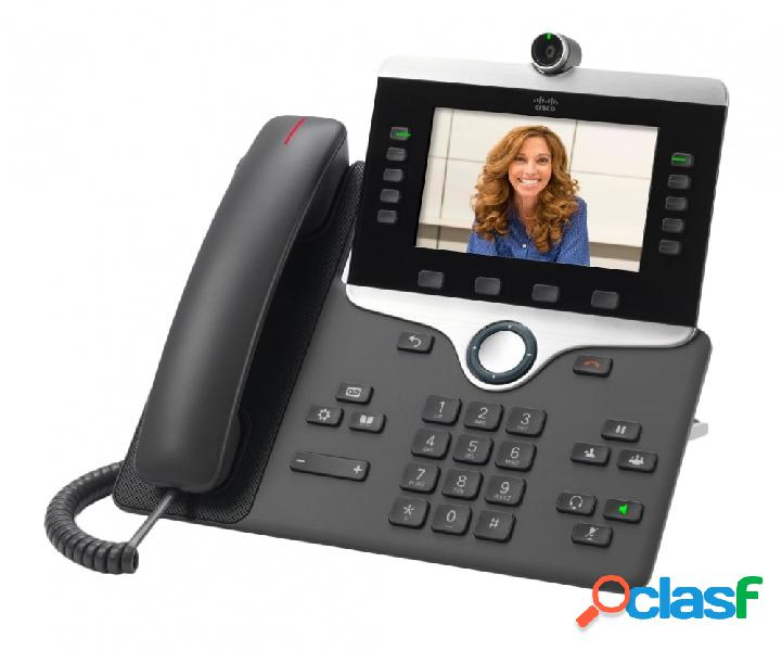 Cisco teléfono ip con pantalla 5'' 8845, auricular slim, bluetooth, altavoz, charcoal
