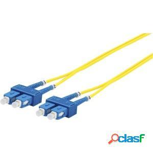 Panduit cable de fibra óptica os2 sc macho - sc macho, 3 metros, amarillo