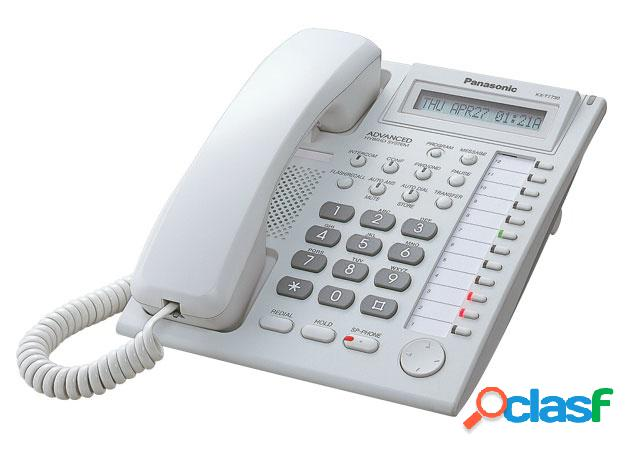 Panasonic teléfono propietario análogo serie kx-t77xx, 24 botones, blanco