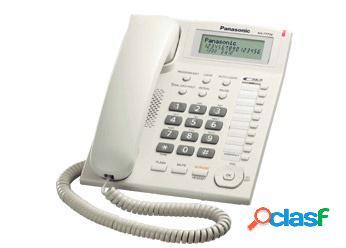 Panasonic teléfono unilínea análogo kx-t77, blanco