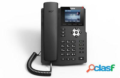 "Fanvil teléfono ip con pantalla 2.4"" x3sp, 2 lineas, negro"