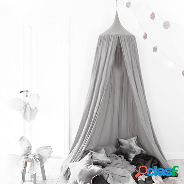 240cm canopy bed netting mosquito bedding net baby kids play tents ropa de algodón