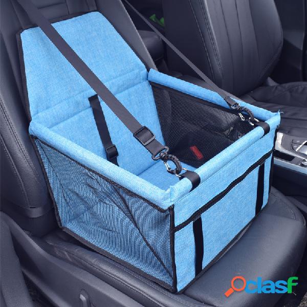 Portador del asiento delantero del animal doméstico del paño de oxford del polaco de 7 colores perro gato portador del asiento de carro del viaje