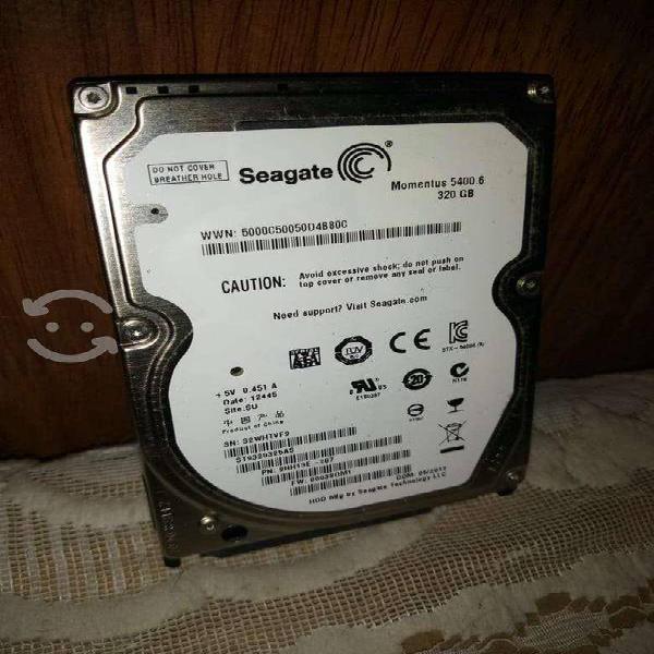Discos duros seagate 320gb y wester digital250 gb