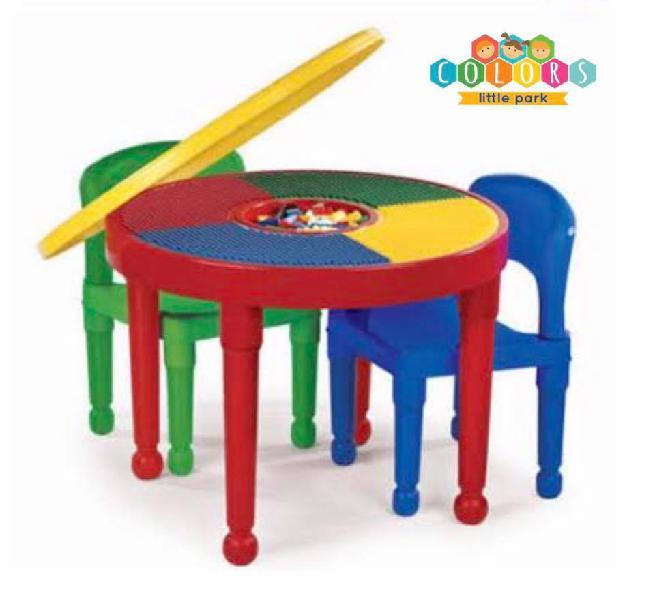 Mesa para jugar legos y bloques