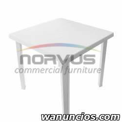 Mesas y sillas de plastico para negocio