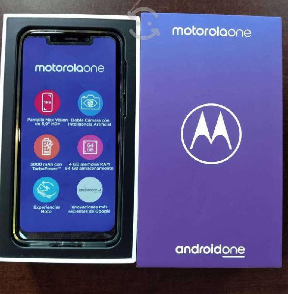 Motorola moto one (nuevo/liberado), combo oferta