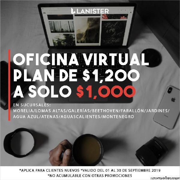 Oficinas virtuales con sala de juntas, al mejor precio!