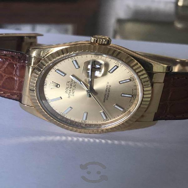 Rolex datejust ref: 116138 oro 18k 36mm serie (f)
