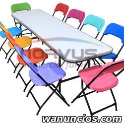Venta de sillas y mesas infantiles para alquiler