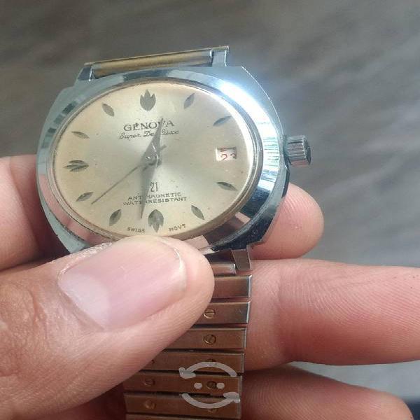 Reloj swiss de cuerda vintage funcional de hombre