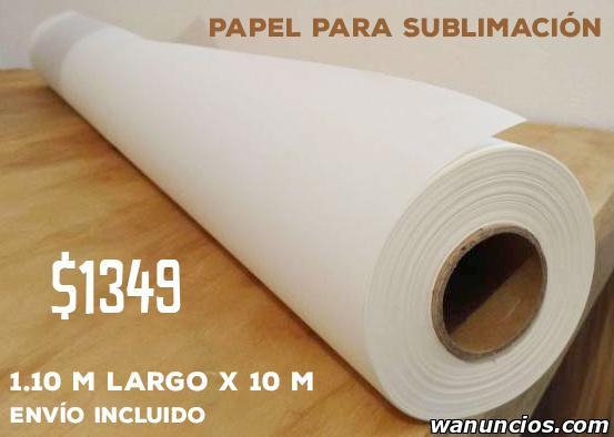 Rollo papel sublimacion 1.10m x 100m