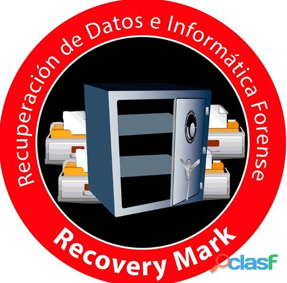 Servicios de informática (recuperación de datos) recovery mark
