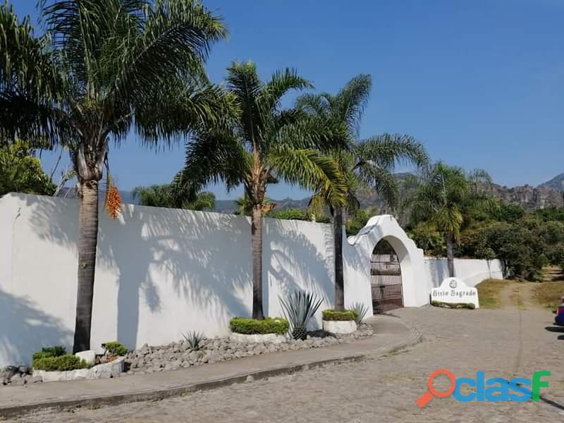 Disponibles 2 lotes de Terreno en Tepoztlán Morelos