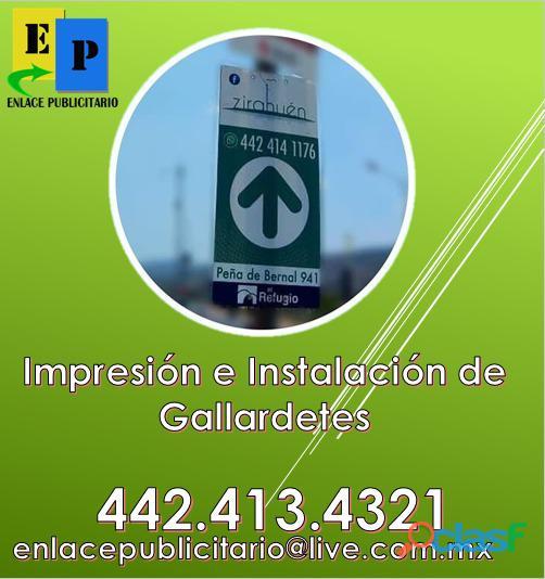 IMPRESION DE GALLARDETES