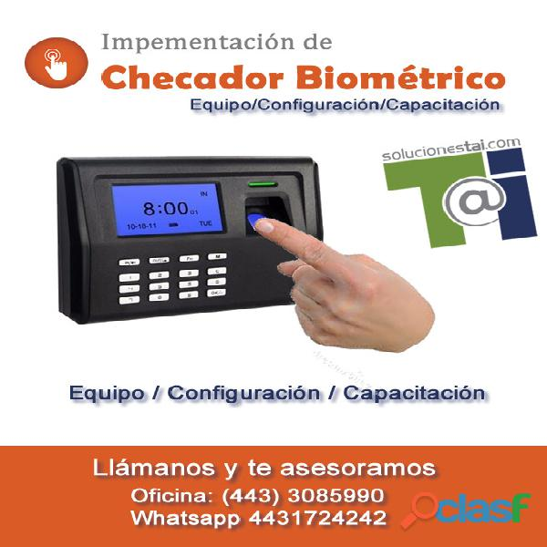 Checadores biometricos