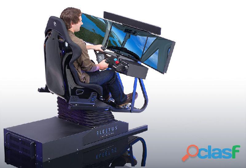 Simuladores de vuelo y carreras de autos