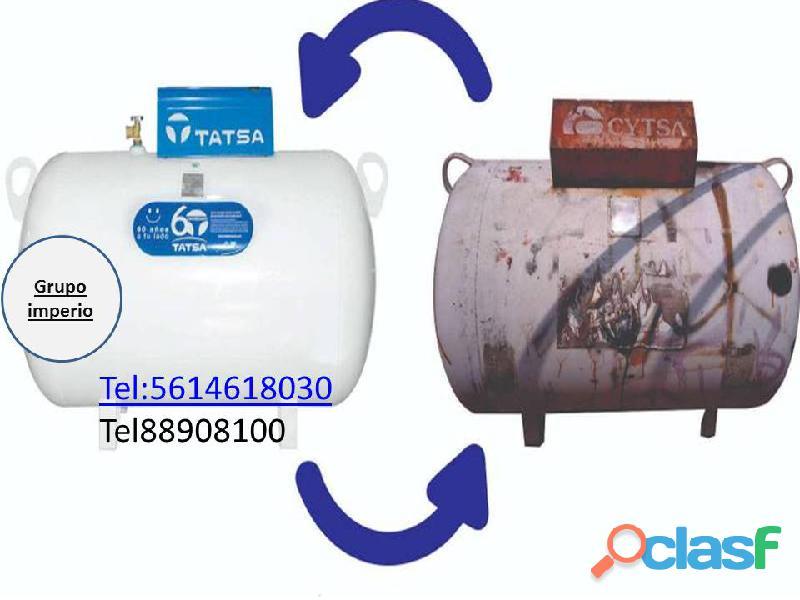 tatsa remplazó por parte de grupo imperio tanques estacionarios de 300litros $ 5,700