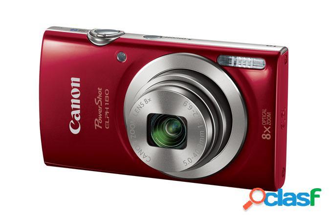 Cámara digital canon powershot elph 180, 20mp, zoom óptico 8x, rojo