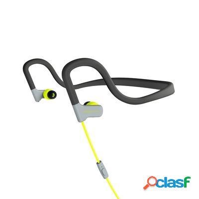Energy sistem audífonos intrauriculares deportivos con micrófono sport 2, alámbrico, 3.5mm, amarillo