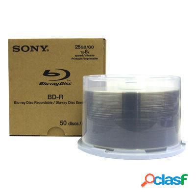 Sony discos virgenes para blu ray, bd-r, 6x, 50 discos (50bnr25ap6-50)