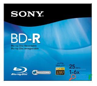 Sony disco virgen para blu-ray, bd-r, 6x, 25gb, 1 disco