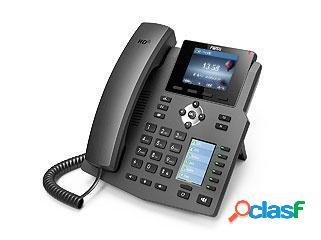 Fanvil teléfono ip con 2 pantallas x4, 4 lineas, 6 teclas programables, negro