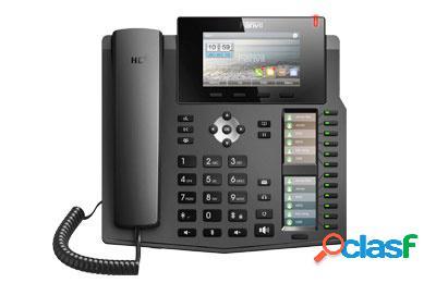 Fanvil teléfono ip con 3 pantallas x6, 6 lineas, 12 teclas programables
