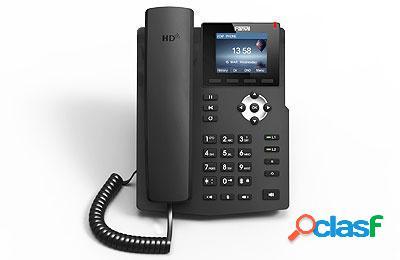 "Fanvil teléfono ip con pantalla 2.8"", 2 líneas, 5 teclas programables, negro"