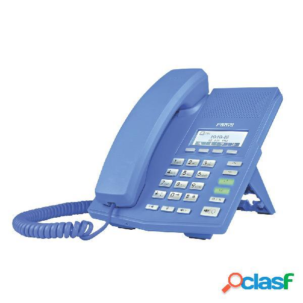 Fanvil teléfono ip x3, 2 líneas, altavoz, azul