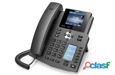 Fanvil teléfono ip x4g con 2 pantallas, 4 líneas, 6 teclas programables, conferencia de 3 vías
