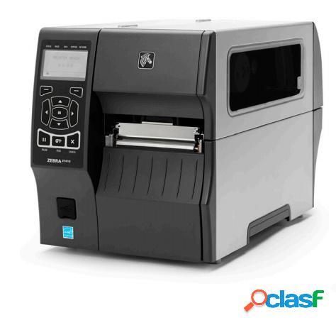 Zebra zt410 impresora de etiquetas, transferencia térmica, bluetooth, 300 x 300 dpi, gris