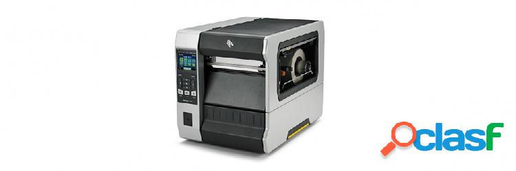 Zebra zt620, impresora de etiquetas, transferencia térmica, 203dpi, bluetooth, usb 2.0, negros/gris