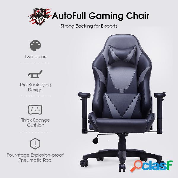 silla ergonómica para juegos de carreras autofull silla plegable de cuero pu con ángulo de reclinación ajustable con rueda de silencio de xiaomi youpin