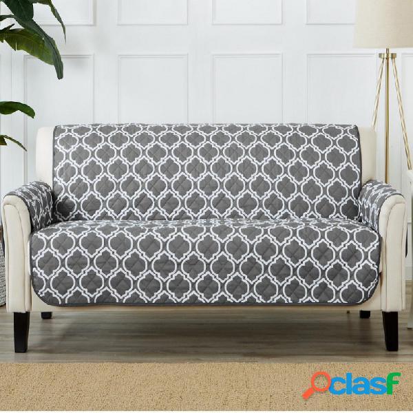 Home fashion designs funda de sofá reversible para salón. protector de muebles con correas seguras. funda para muebles para perros, protege de los niños y mascotas