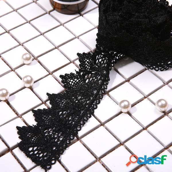 Traje de costura negro del traje del ajuste del arte de la cinta diy del cordón del negro 2m