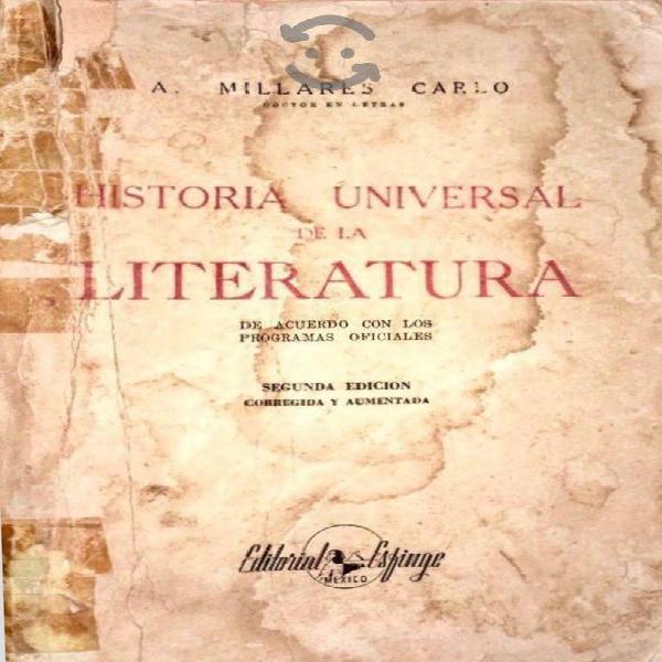 Historia universal de literatura, a millares carlo