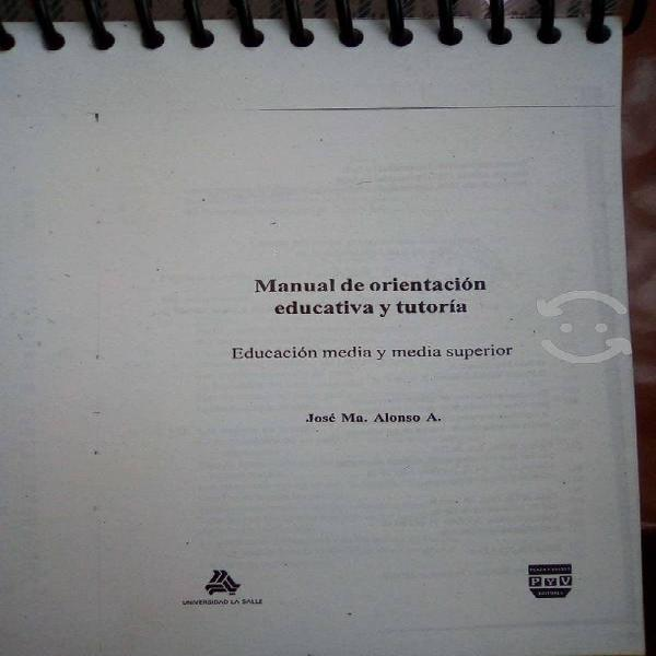 Manual de orientacion educativa y tutoria.