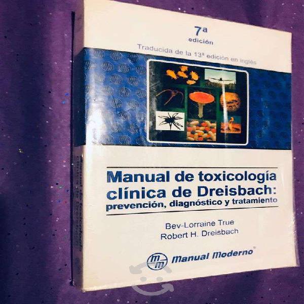 Manual de toxicología