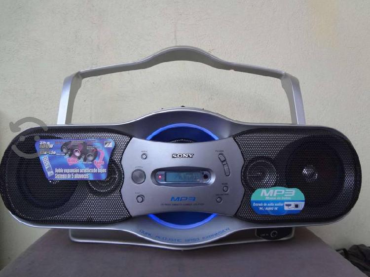 Radio grabadora sony, cdf-f17cp,cd mp3,cassett,am.